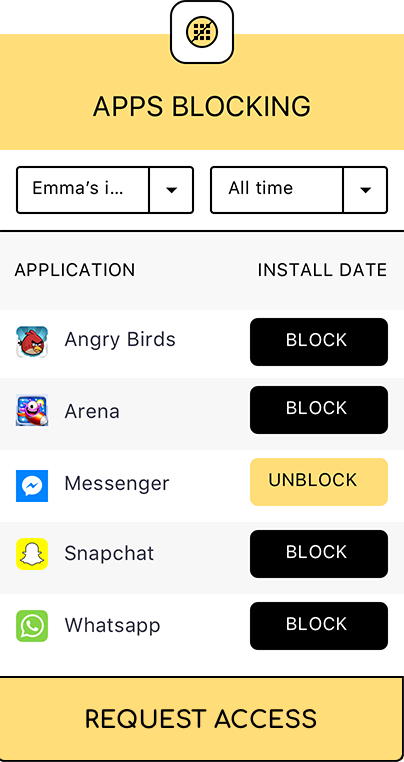 Blocked applications