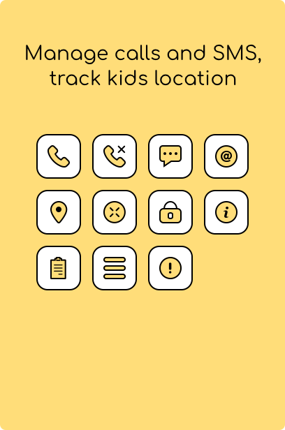 Manage calls and SMS, track kids location - Kidsecured